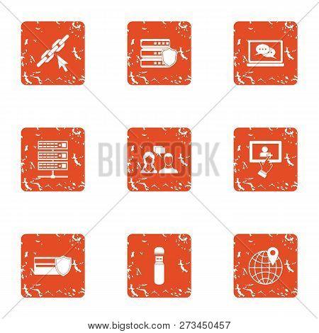 Infidelity Icons Set. Grunge Set Of 9 Infidelity Icons For Web Isolated On White Background