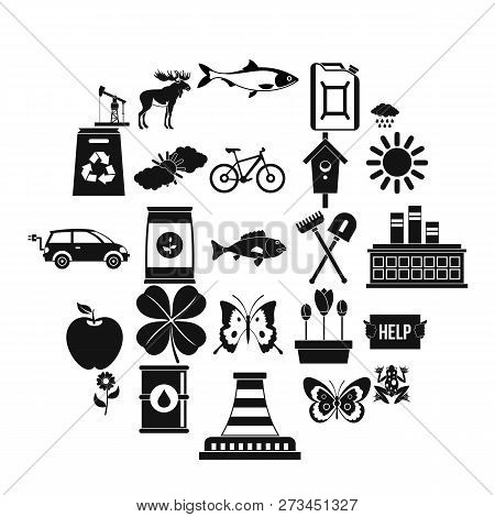 Natural Resources Icons Set. Simple Set Of 25 Natural Resources Icons For Web Isolated On White Back