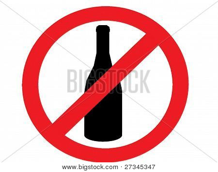 no drinking alcohol allowed