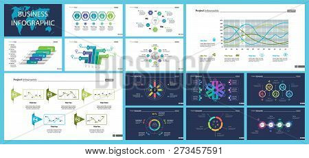 Business Inforgraphic Slide Design Set Can Be Used For Presentations, Annual Report, Web Design. Man