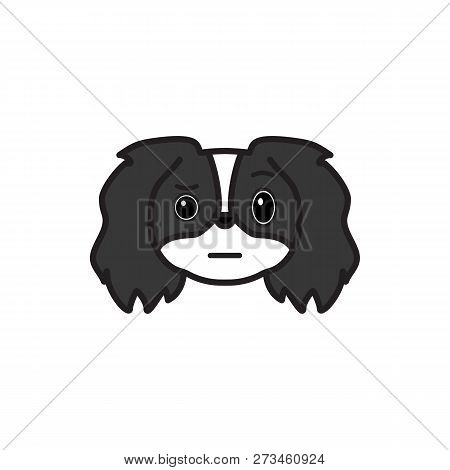Pekingese, Emoji, Unsure Multicolored Icon. Signs And Symbols Icon Can Be Used For Web, Logo, Mobile