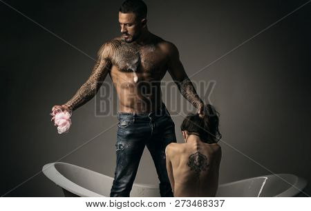 Muscular Brutal Male. Passion And Sensual Touch. Passion. We Need To Live With Passion. Passionate C
