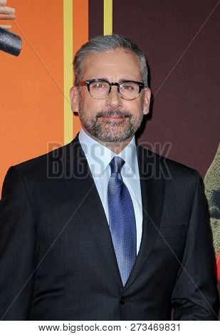 Steve Carell at the Los Angeles premiere of 'Welcome To Marwen' held at the ArcLight Cinemas in Hollywood, USA on December 10, 2018.