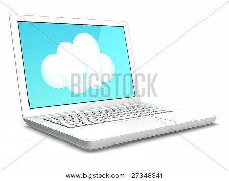 Laptop and Cloud