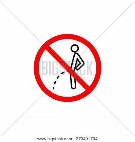 Forbidden Pissing Icon Can Be Used For Web, Logo, Mobile App, Ui, Ux