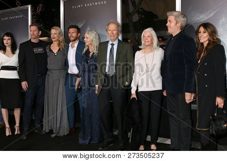 LOS ANGELES - DEC 10:  Clint Eastwood and family at the