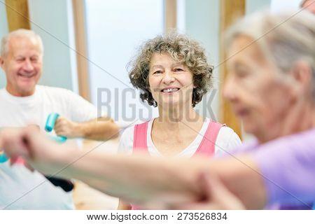 Vital senior woman in senior sport trains health and fitness