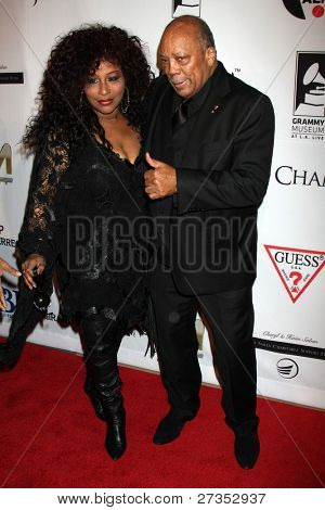 LOS ANGELES - DEC 9:  Chaka Khan, Quincy Jones arrives at the Launch Of The Andrea Bocelli Foundation at Beverly Hilton Hotel on December 9, 2011 in Beverly Hills, CA