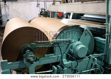 Paper Production Producing Packaging Paper And Cardboard From Waste Paper. Automated Quality Control