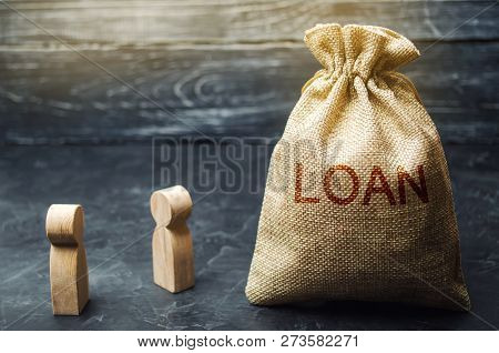 The Concept Of Loan. Businessmen Are Discussing Questions About The Company's Loans. The Financial L