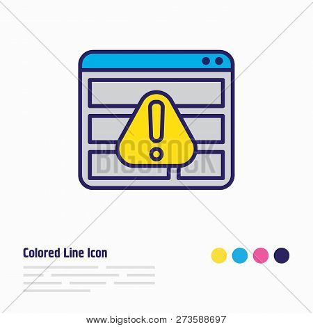 Illustration Of Access Denied Icon Colored Line. Beautiful Privacy Element Also Can Be Used As Warni