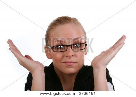 Stumped Business Woman