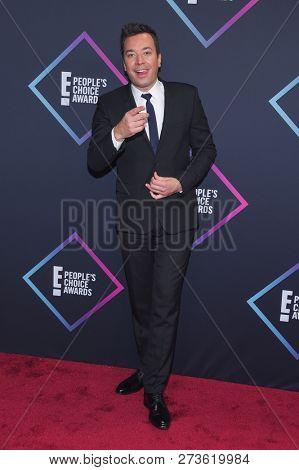 LOS ANGELES - NOV 11:  Jimmy Fallon arrives for the 2018 People's Choice Awards on November 11, 2018 in Santa Monica, CA