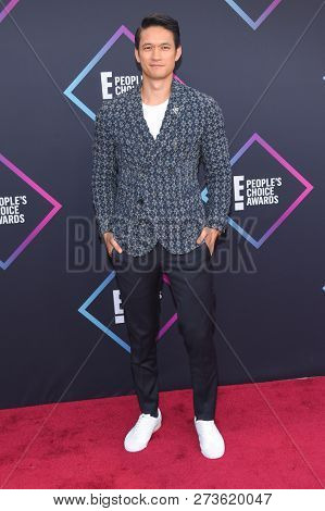 LOS ANGELES - NOV 11:  Harry Shum Jr. arrives for the 2018 People's Choice Awards on November 11, 2018 in Santa Monica, CA
