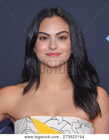 LOS ANGELES - NOV 11:  Camila Mendes arrives for the 2018 People's Choice Awards on November 11, 2018 in Santa Monica, CA