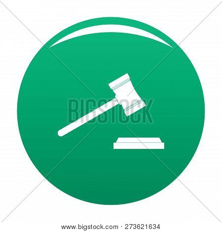 Legal Gavel Icon. Simple Illustration Of Legal Gavel Icon For Any Design Green