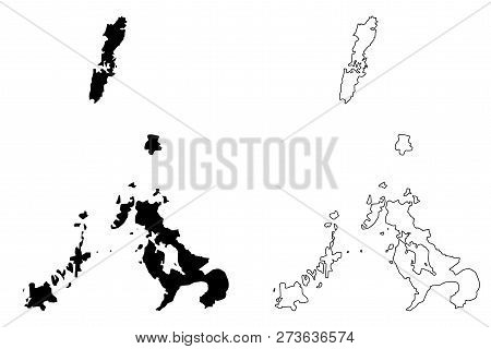 Nagasaki Prefecture (administrative Divisions Of Japan, Prefectures Of Japan) Map Vector Illustratio