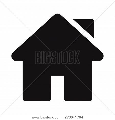 Home Icon Isolated On White Background. Home Icon In Trendy Design Style. Home Vector Icon Modern An