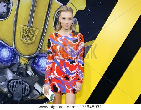 Gracie Dzienny at the World premiere of 'Bumblebee' held at the TCL Chinese Theatre IMAX in Hollywood, USA on December 9, 2018.