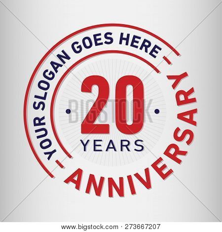 20 Years Anniversary Logo. 20th Vector And Illustration.