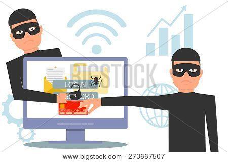 Hackers Steal Information. Hacker Stealing Money And Personal Information. Hacker Unlock Information