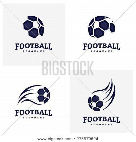 Set Of Soccer Football Badge Logo Design Templates. Sport Team Identity Vector Illustration