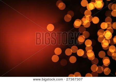 Glowing Christmas lights for use as background