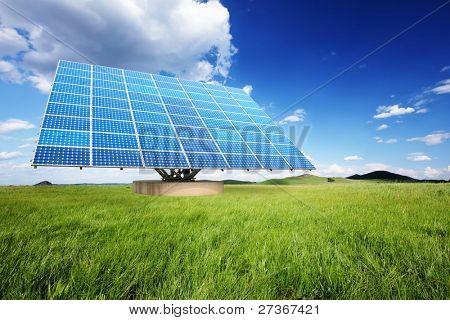 hell Sonnenkollektoren in der Natur