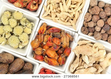 Assortment of traditional Chinese medicine