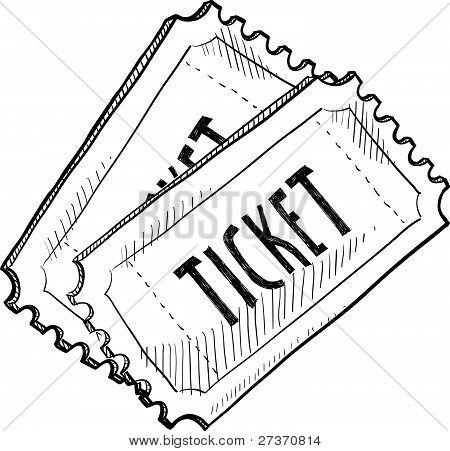 Movie ticket sketch