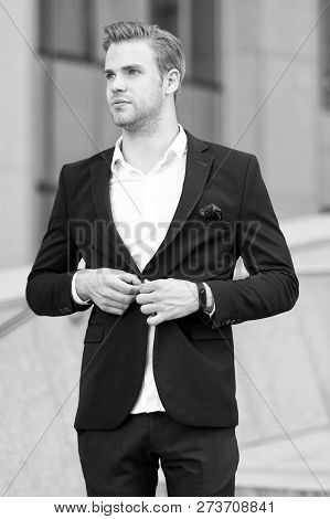 Lawyer Or Businessman. Businessman Fashion And Beauty. Handsome Lawyer In Formal Suit. Lawyer Or Bus