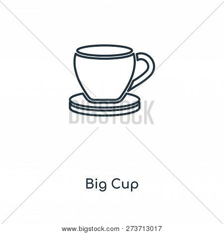 Big Cup Icon In Trendy Design Style. Big Cup Icon Isolated On White Background. Big Cup Vector Icon