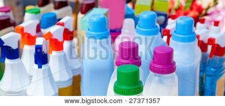 domestic chemical products for cleaning house chores