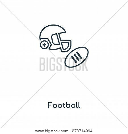 Football Icon In Trendy Design Style. Football Icon Isolated On White Background. Football Vector Ic