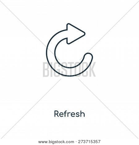 Refresh Icon In Trendy Design Style. Refresh Icon Isolated On White Background. Refresh Vector Icon