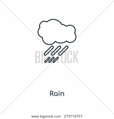 Rain Icon In Trendy Design Style. Rain Icon Isolated On White Background. Rain Vector Icon Simple An