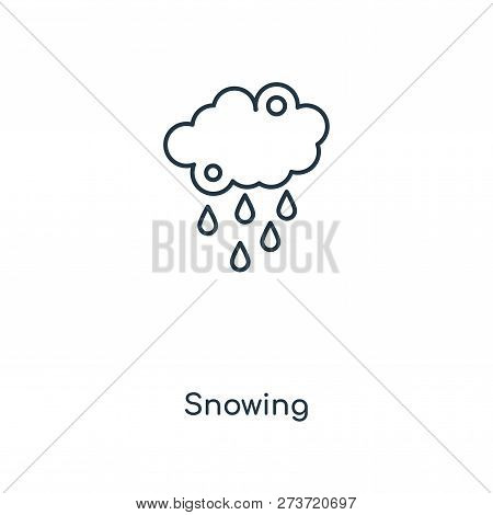 Snowing Icon In Trendy Design Style. Snowing Icon Isolated On White Background. Snowing Vector Icon