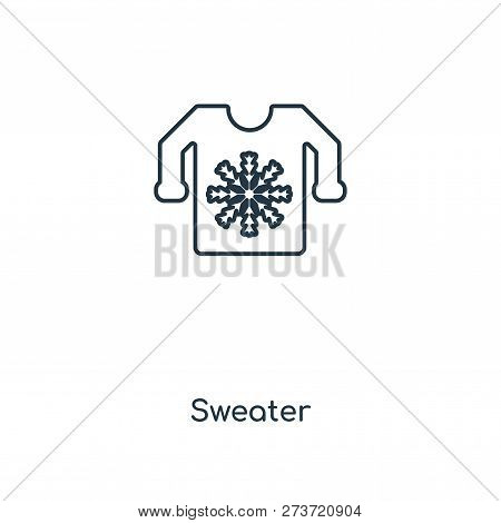 Sweater Icon In Trendy Design Style. Sweater Icon Isolated On White Background. Sweater Vector Icon