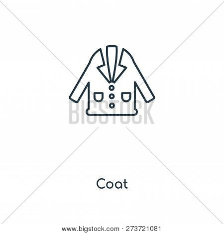 5271c3bd2079 coat icon in trendy design style. coat icon isolated on white background. coat  vector icon simple and modern flat symbol for web site, mobile, logo, app,  ...