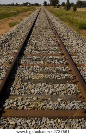 Converging Lines Railroad Tracks