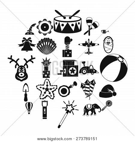 Obsolete Toy Icons Set. Simple Set Of 25 Obsolete Toy Vector Icons For Web Isolated On White Backgro