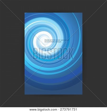 Modern Style Flyer Or Cover Design For Your Business With Spiralling Lines Pattern - Template Applic