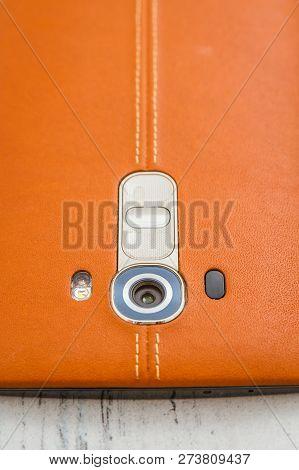 Orange Protective Back Cover Of Lg G4