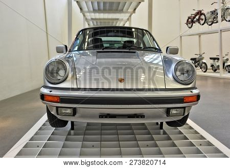 Retro Vehicle. Classic. Eighties. Front View. Luxury Sports Car. Nostalgia. German Cars. Munich. Ger
