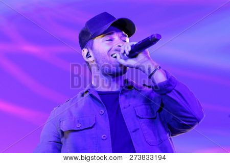 NEW YORK - DEC 11: Jake Miller performs in concert at 201 Mulberry Street on December 11, 2018 in New York City.