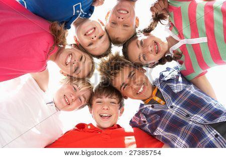 Teenagers in circle