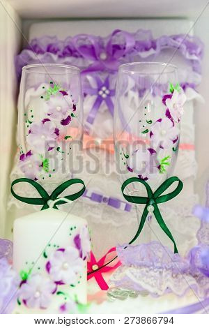 Wedding Accessories For The Ceremony. Glasses Wine Glassesdding Accessories For The Ceremony. Glasse