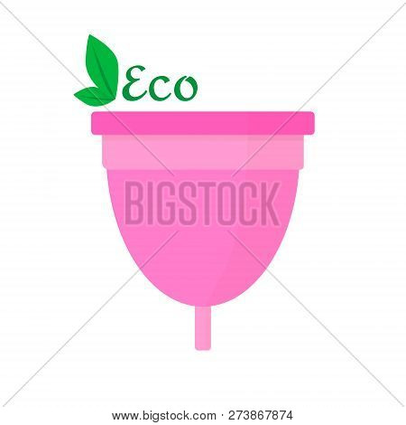 Menstrual Cup - Eco Friendly, Woman Hygiene Products. Vector Flat.