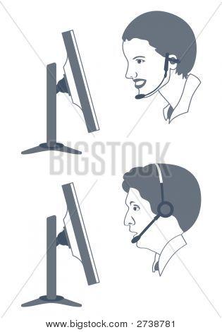 Call-Center Operators At Work