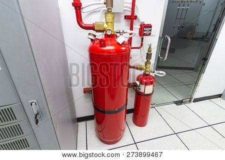 Fm-200 Suppression Systems, Fm200 Gas Flooding System, Gas Suppression System In Data Center Room